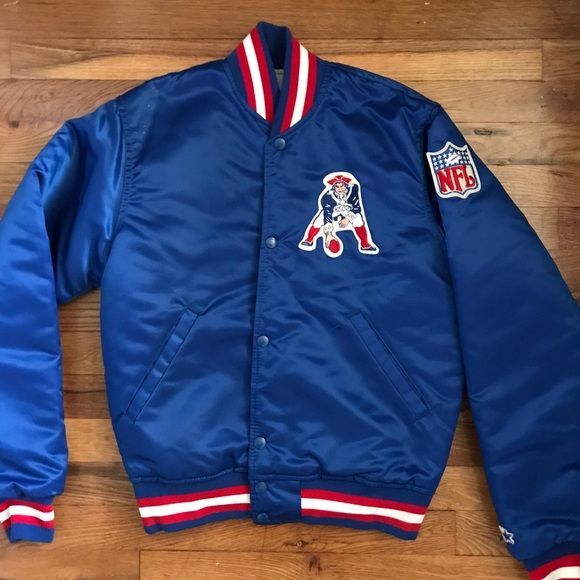 check out 81a61 d2fe3 VINTAGE New England Patriots Starter Jacket NEW S